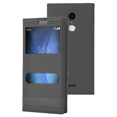 Microsonic Türk Telekom Tt175 Kılıf Dual View Gizli Mıknatıslı Siyah Cep Telefonu Kılıfı