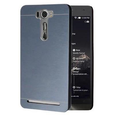 Microsonic Asus Zenfone 2 Laser 5.5 Inch Kılıf Hybrid Metal Mavi Cep Telefonu Kılıfı