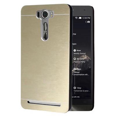 Microsonic Asus Zenfone 2 Laser 5.5 Inch Kılıf Hybrid Metal Gold Cep Telefonu Kılıfı