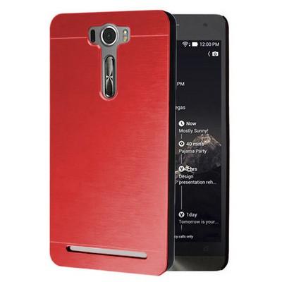 Microsonic Asus Zenfone 2 Laser 5.0 Inch Kılıf Hybrid Metal Kırmızı Cep Telefonu Kılıfı