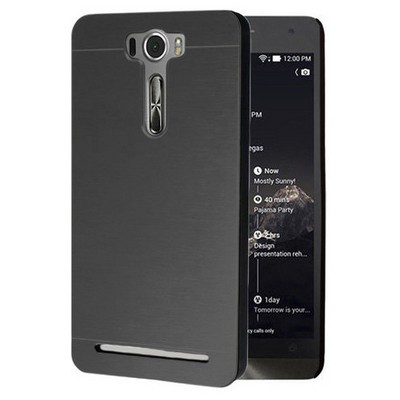 Microsonic Asus Zenfone 2 Laser 5.0 Inch Kılıf Hybrid Metal Siyah