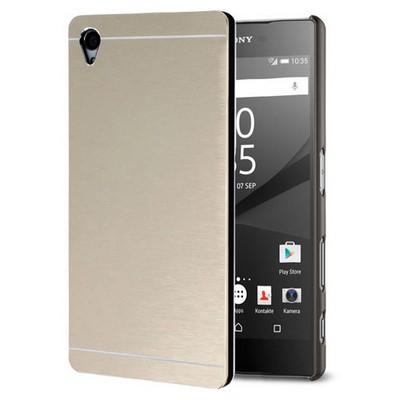 Microsonic Sony Xperia Z5 Kılıf Hybrid Metal Gold Cep Telefonu Kılıfı