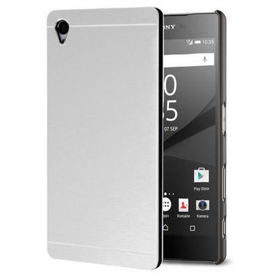 Microsonic Sony Xperia Z5 Kılıf Hybrid Metal Gümüş Cep Telefonu Kılıfı