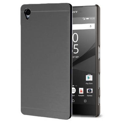 Microsonic Sony Xperia Z5 Kılıf Hybrid Metal Siyah Cep Telefonu Kılıfı