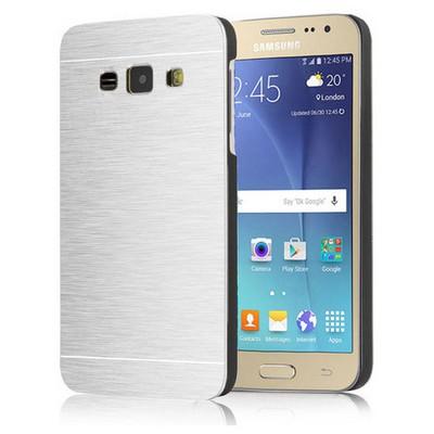 Microsonic Samsung Galaxy J1 Kılıf Hybrid Metal Gümüş Cep Telefonu Kılıfı