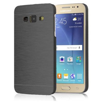 Microsonic Samsung Galaxy J1 Kılıf Hybrid Metal Siyah Cep Telefonu Kılıfı