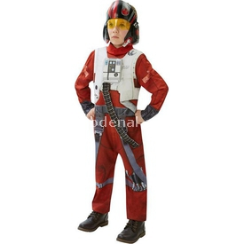 Rubies Star Wars Episode 7 Poe X-wing Fighter Kostüm Lüks 7-8 Yaş Kostüm & Aksesuar