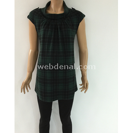 Trndy Trendy Degaje Yaka Hamile Tunik Yeşil L Pantolon, Şort, Tayt