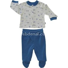 Bebetto F822 Tpy World Penye Mini Pijama Takımı Lacivert 6-9 Ay (68-74 Cm) Erkek Bebek Pijaması