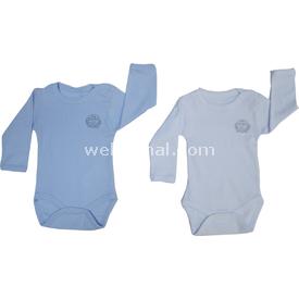 Bebetto Bbt-t857 Ribana 2 Li Bady Uzun Kollu Beyaz-mavi 6-9 Ay (68-74 Cm) Erkek Bebek Body
