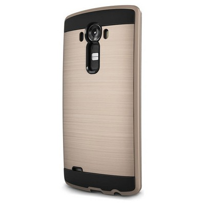 Microsonic Lg G4 Kılıf Slim Heavy Duty Gold Cep Telefonu Kılıfı