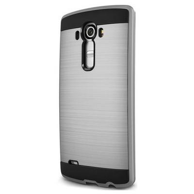 Microsonic Lg G4 Kılıf Slim Heavy Duty Gümüş Cep Telefonu Kılıfı