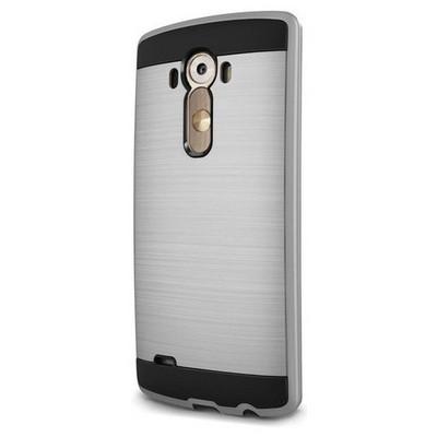 Microsonic Lg G3 Kılıf Slim Heavy Duty Gümüş Cep Telefonu Kılıfı