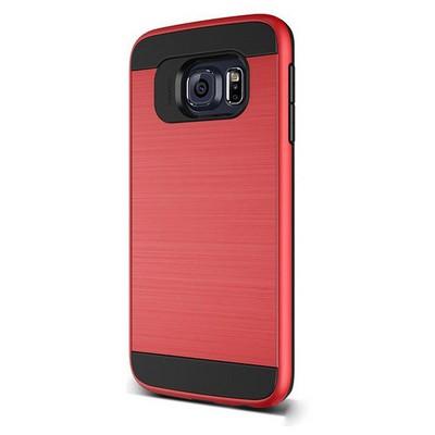 Microsonic Samsung Galaxy S6 Edge Kılıf Slim Heavy Duty Kırmızı Cep Telefonu Kılıfı