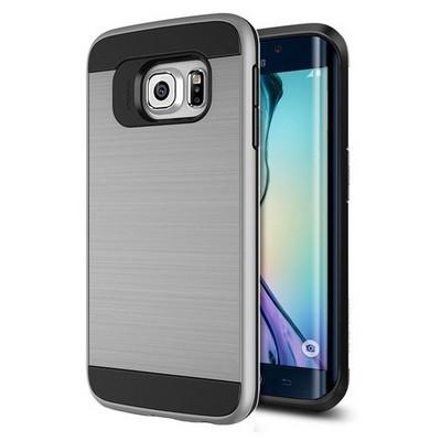 Microsonic Samsung Galaxy S6 Edge Kılıf Slim Heavy Duty Gümüş Cep Telefonu Kılıfı