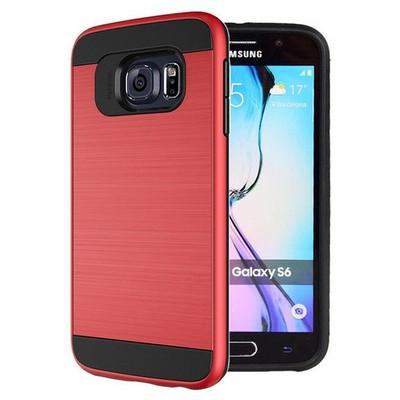 Microsonic Samsung Galaxy S6 Kılıf Slim Heavy Duty Kırmızı Cep Telefonu Kılıfı