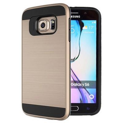 Microsonic Samsung Galaxy S6 Kılıf Slim Heavy Duty Gold Cep Telefonu Kılıfı