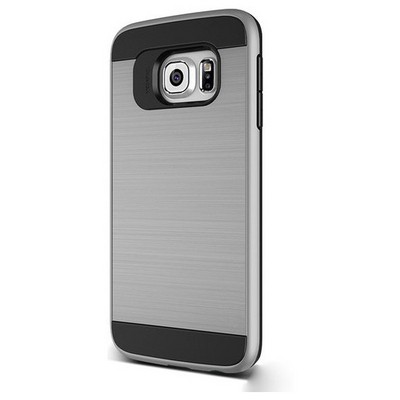 Microsonic Samsung Galaxy S6 Kılıf Slim Heavy Duty Gümüş Cep Telefonu Kılıfı