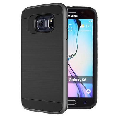 Microsonic Samsung Galaxy S6 Kılıf Slim Heavy Duty Siyah Cep Telefonu Kılıfı
