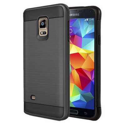 Microsonic Samsung Galaxy S5 Kılıf Slim Heavy Duty Siyah Cep Telefonu Kılıfı