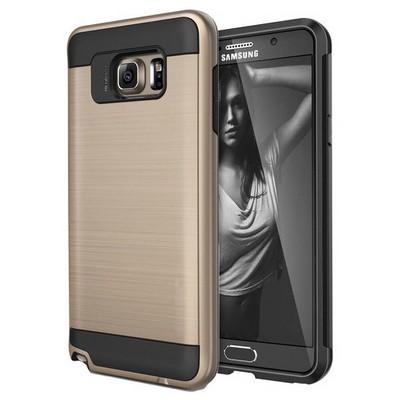 Microsonic Samsung Galaxy Note 5 Kılıf Slim Heavy Duty Gold Cep Telefonu Kılıfı