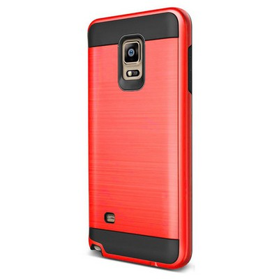 Microsonic Samsung Galaxy Note 4 Kılıf Slim Heavy Duty Kırmızı Cep Telefonu Kılıfı