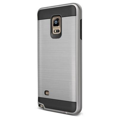 Microsonic Samsung Galaxy Note 4 Kılıf Slim Heavy Duty Gümüş Cep Telefonu Kılıfı