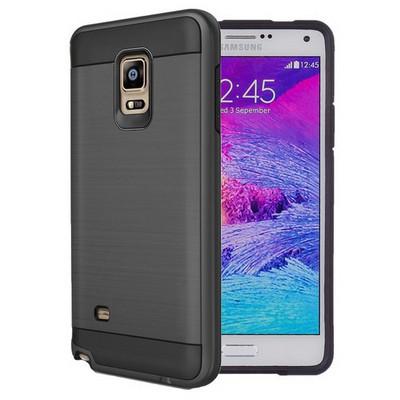 Microsonic Samsung Galaxy Note 4 Kılıf Slim Heavy Duty Siyah Cep Telefonu Kılıfı