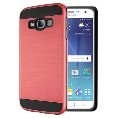 Microsonic Samsung Galaxy J7 Kılıf Slim Heavy Duty Kırmızı Cep Telefonu Kılıfı