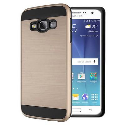 Microsonic Samsung Galaxy J7 Kılıf Slim Heavy Duty Gold Cep Telefonu Kılıfı