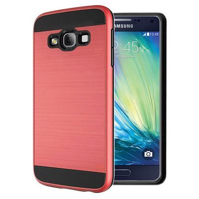 Microsonic Samsung Galaxy A7 Kılıf Slim Heavy Duty Kırmızı Cep Telefonu Kılıfı