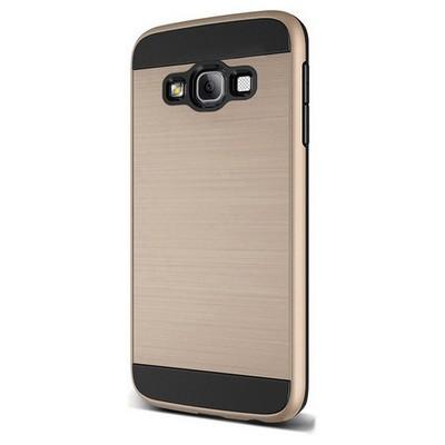 Microsonic Samsung Galaxy A7 Kılıf Slim Heavy Duty Gold Cep Telefonu Kılıfı
