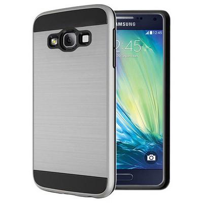 Microsonic Samsung Galaxy A7 Kılıf Slim Heavy Duty Gümüş Cep Telefonu Kılıfı