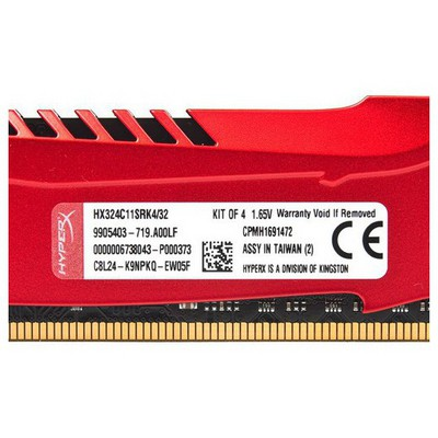 Kingston HyperX Predator 4x8GB Bellek - HX324C11SRK4/32
