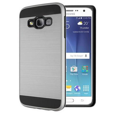 Microsonic Samsung Galaxy On7 Kılıf Slim Heavy Duty Gümüş Cep Telefonu Kılıfı