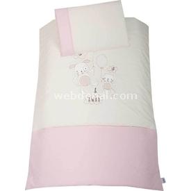Lolybon Up Up Park Yatak Uyku Seti Yan Korumalı Pembe Uyku Setleri