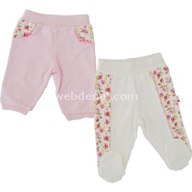 Baby Center 70825 2 Li Tek Alt Ayaksız Pantolon Pembe 9-12 Ay (74-80 Cm) Pantolon & Şort