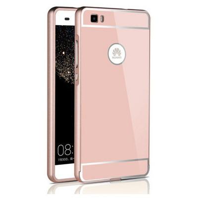 Microsonic Huawei Ascend P8 Lite Kılıf Luxury Mirror Rose Gold Cep Telefonu Kılıfı