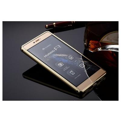 Microsonic Huawei Ascend P8 Lite Kılıf Luxury Mirror Gold Cep Telefonu Kılıfı