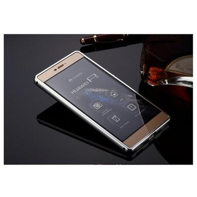 Microsonic Huawei Ascend P8 Lite Kılıf Luxury Mirror Gümüş Cep Telefonu Kılıfı
