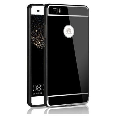 Microsonic Huawei Ascend P8 Lite Kılıf Luxury Mirror Siyah Cep Telefonu Kılıfı