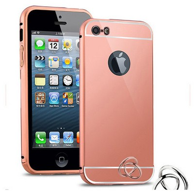 Microsonic Iphone 5s Kılıf Luxury Mirror Rose Gold Cep Telefonu Kılıfı