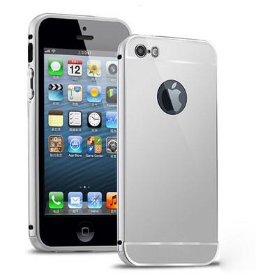 Microsonic Iphone 5s Kılıf Luxury Mirror Gümüş Cep Telefonu Kılıfı