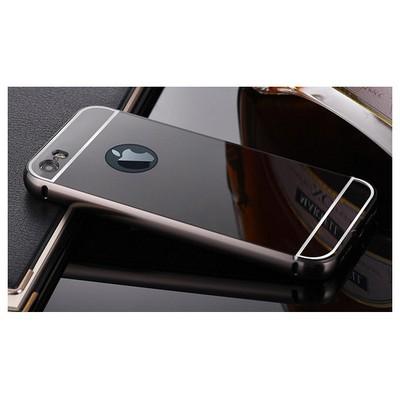 Microsonic Iphone 5s Kılıf Luxury Mirror Siyah Cep Telefonu Kılıfı