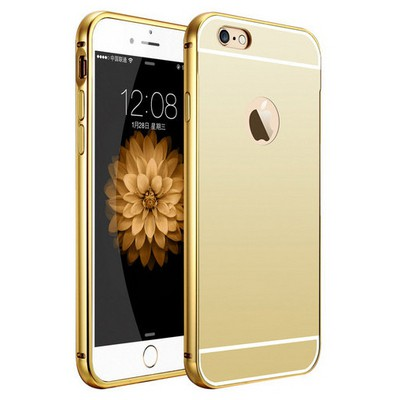 Microsonic Iphone 6s Plus Kılıf Luxury Mirror Gold Cep Telefonu Kılıfı