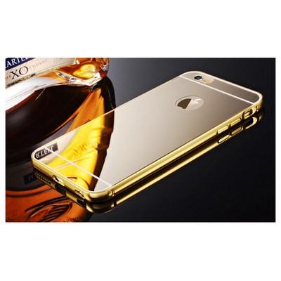 Microsonic Iphone 6s Plus Kılıf Luxury Mirror Gold Cep Telefonu Kılıfı