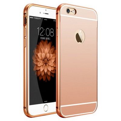 Microsonic Iphone 6s Kılıf Luxury Mirror Rose Gold Cep Telefonu Kılıfı