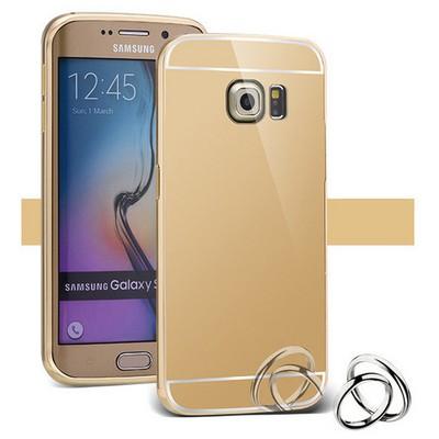 Microsonic Samsung Galaxy S6 Edge Kılıf Luxury Mirror Gold Cep Telefonu Kılıfı