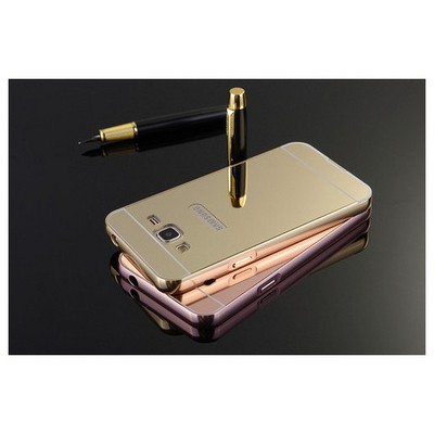 Microsonic Samsung Galaxy J2 Kılıf Luxury Mirror Rose Gold Cep Telefonu Kılıfı