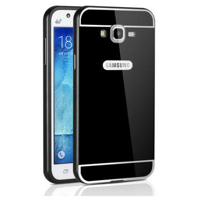 Microsonic Samsung Galaxy J2 Kılıf Luxury Mirror Siyah Cep Telefonu Kılıfı